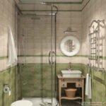 дизайн маленькой ванной комнаты с душевой кабиной