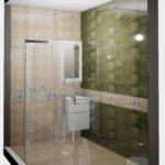 Красивая душевая кабина в интерьере ванной