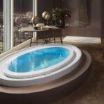 дизайн ванна лофт