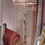 металлическая лампа в интерьере