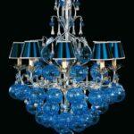 синие лампы для интерьера