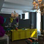 оформление квартиры в ярких цветах