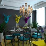 яркий интерьер квартиры в Киеве