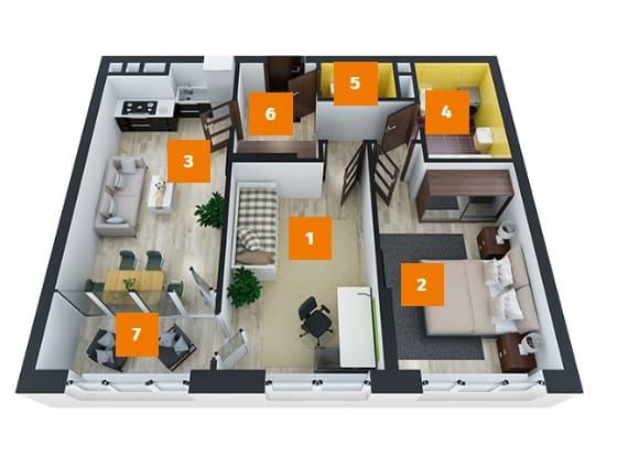 дизайн проект квартиры двухкомнатной