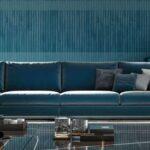 дизайн синего дивана