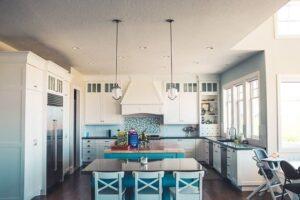 дизайн гостинной с кухней