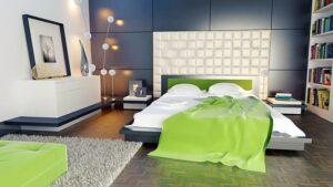 Гламурный стиль спальни