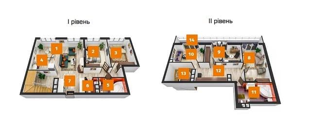 шестикомнатная квартира дизайн проект
