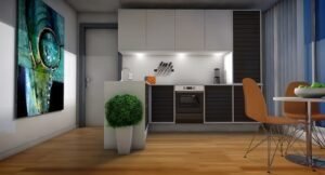 дизайн кухни гостинной
