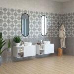 дизайн ванной плитка