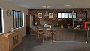 дизайны кухонь