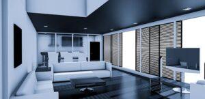 интерьер гостинной в квартире