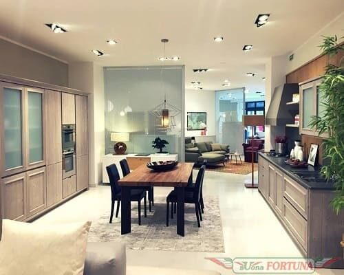 дизайн гостиной кухни